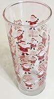 Christmas Holiday Glass Bud Vases 6 3/8 (Santa Jingle All The Way)