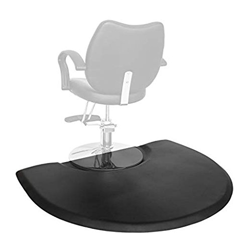 Studio Salon - Mefeir 3' x 4' - 1 inch Thick Salon Anti Fatigue Mat for Hair Stylist, Semi Circle Comfort Barber Shop Beauty Floor Mats under Styling Chair