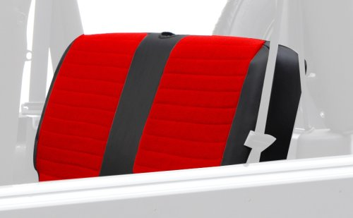 Smittybilt 756130 XRC Red on Black Rear Seat Cover