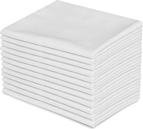 Utopia Bedding 12 Pillowcases Set - Queen White – Brushed