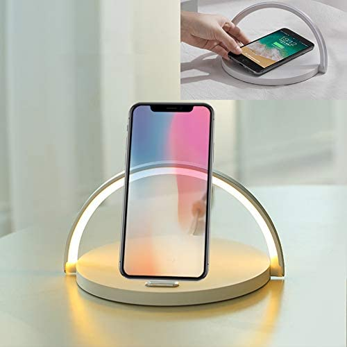 TECEVO LED Qi Wireless Charger Quick Charging Pad With Warm Night Light
