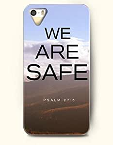 iPhone 5 5S Case OOFIT Phone Hard Case ** NEW ** Case with Design We Are Safe Psalm 27:5- Bible Verses - Case for Apple iPhone 5/5s