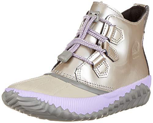 Sorel Kids Girl's Out 'N About¿ Plus (Little Kid/Big Kid) Quarry/Chrome Grey 4 M US Big Kid
