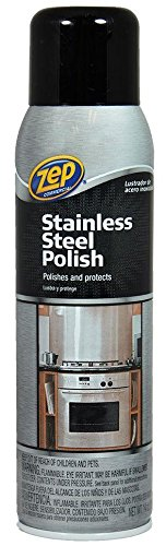 12 Pack Zep Commercial ZUSSTL14 Stainless Steel Polish - 14 fl oz by Zep