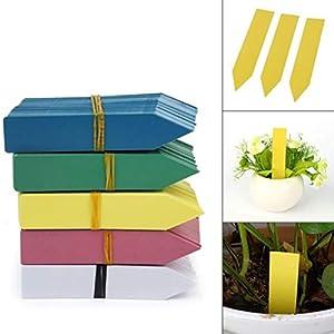 Moliies Riutilizzabili Etichette di Semi di Fiori in plastica Impermeabile per Piante Marcatori Etichette da Giardino… 5 spesavip