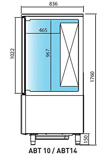 Abatidor y congelador de temperatura Infrico ABT14 1L: Amazon.es ...