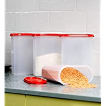 Tupperware Madular Mate Oval Plastic Container, 1.7 litres, Set of 8, Transparent