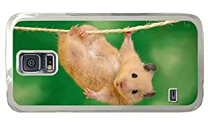Hipster waterproof Samsung Galaxy S5 Case hamster hang out PC Transparent for Samsung S5