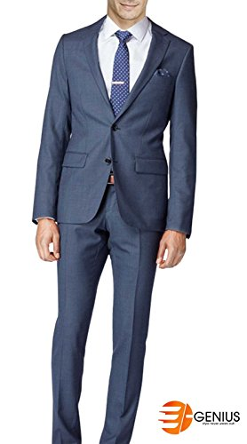 Quality e Hayle Piece Sharkskin Blue High blue Suit Navy Navy Genius 2 xYawqxU