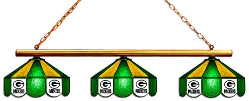 - Imperial Officially Licensed NFL Merchandise: Tiffany-Style Stained Glass Billiard/Pool Table 3 Shade Light, Green Bay Packers