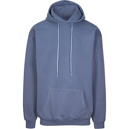 Have It Tall Men's Pigment Dyed Heavyweight Hoodie Sweatshirt Blue Jean X-Large (Pigment Dyed Pullover Hoodie)