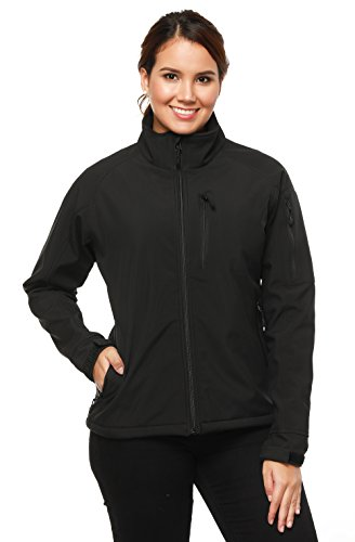 MIER-Womens-Softshell-Outdoor-Front-Zip-Jackets-Water-Resistant-6-Pockets