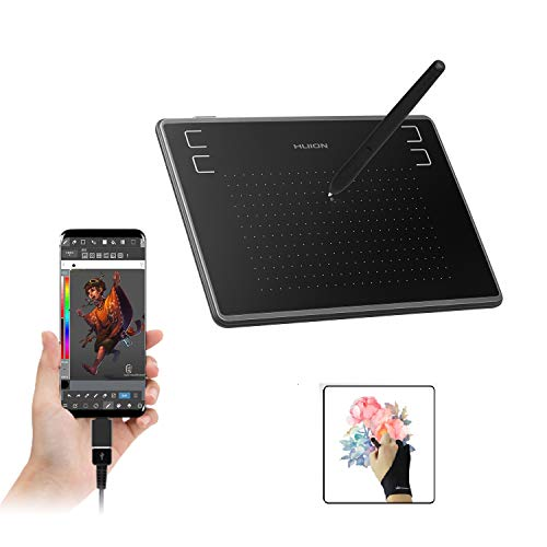 HUION Inspiroy H430P OSU Graphics Tablets Drawing Tablet with Glove and 4 Express Keys