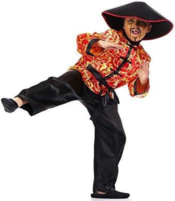 Disfraz de Chino Rojo con Estampado para niño: Amazon.es: Juguetes ...