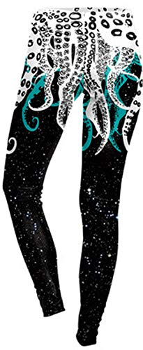 lc dress Ms Fashion Loose Large 3D Print Shipyards Octopus Kawaii Hoodie Autumn BTS,Ivory,L,Costumes