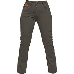Black Salus Womens Motorcycle Jeans UK 8 Olive (Short Leg ...