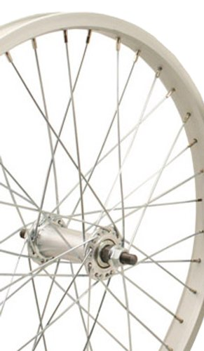 Sta-Tru Silver Alloy Bmx Hub Front Wheel (20X1.75-Inch) - Hub 36h Bmx Bike