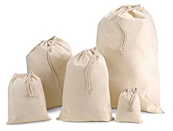 Drawstring Cotton Bags | various sizes | Storage/Organisation ...