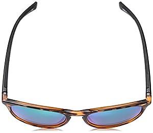 Body Glove Cloudbreak Green Mirror Polarized Round Sunglasses, Shiny Dark Brown, 55 mm