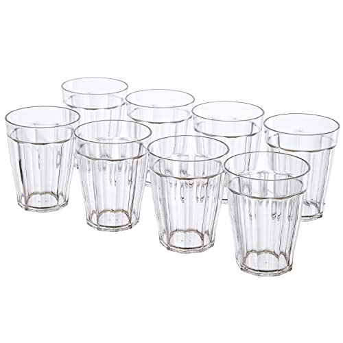 Rhapsody 8-ounce Plastic Tumblers | set of 8 Clear