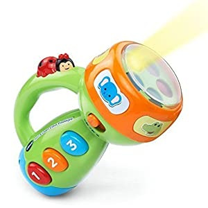 Spin and Learn Color Flashlight Baby Kids Toddler Learning Educational Toy