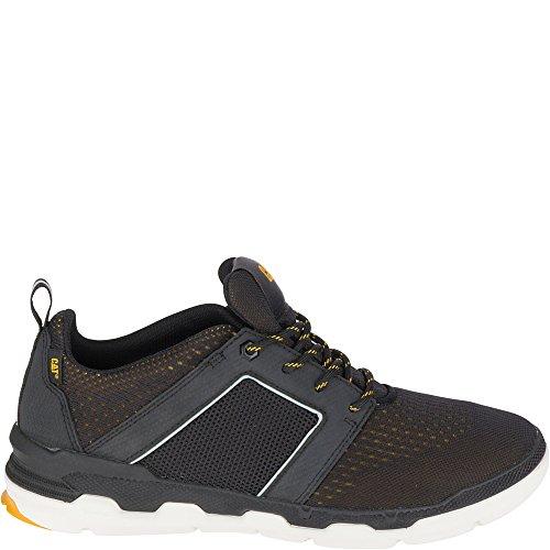 Caterpillar Heren Satz Mesh Sneaker Zwart / Cat Yellow