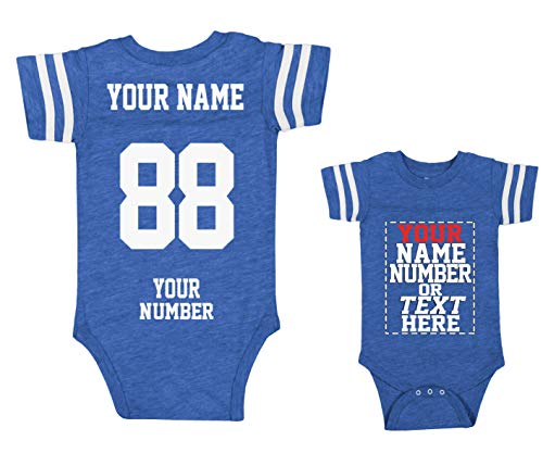 - Custom Jerseys for Babies - Make Your OWN Jersey ONE-Piece Suits - Personalized Baby & Newborn Outfits