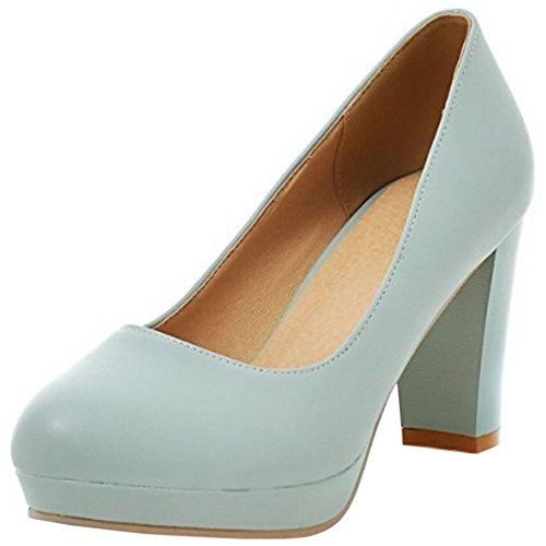 Sweet 2 Mini Pumps Tacon Mujer blue Plataforma Zapatos Zanpa Tamanos A8gxHp