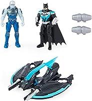 Batman Bat-Tech Flyer with 4-inch Exclusive Mr. Freeze and Batman Action Figures, Kids Toys for Boys Ages 3 an