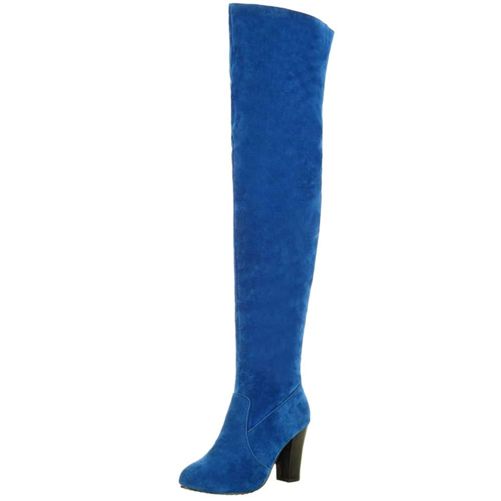Kaizi Karzi ,  Damen Durchgängies mit Plateau Sandalen mit Durchgängies Keilabsatz, Blau-warm - Größe: EU 41 - e64750