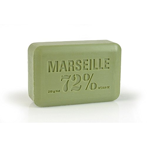 Pre de Provence Artisanal French Soap Bar Enriched with Shea Butter, Quad-Milled For A Smooth & Rich Lather (250 grams) - Olive Oil (Soap Moisturizing De Bar Provence Pre)