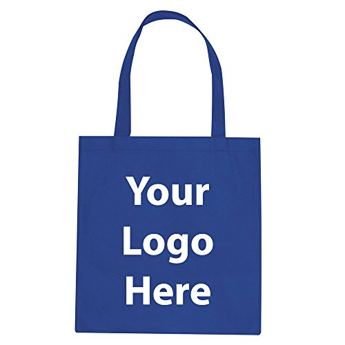"""Promotional Tote Bag - 100 Quantity - $1.35 Each - PROMOTIONAL PRODUCT / BULK / BRANDED with YOUR LOGO / CUSTOMIZED. Size: 15""""W x 16""""H 24"""" handles."""