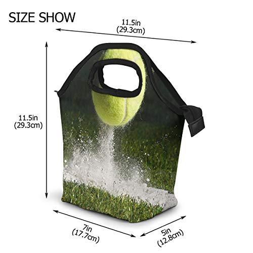 Lunch Box Insulated Lunch Tote Picnic Bags Ice Pack for Kids Adult Men Women Tennis Grass Court Wimbledon In