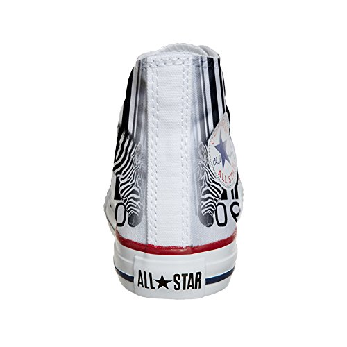 artisanal Chaussures Converse Customized Zebra produit Barcode Coutume xnngF0r