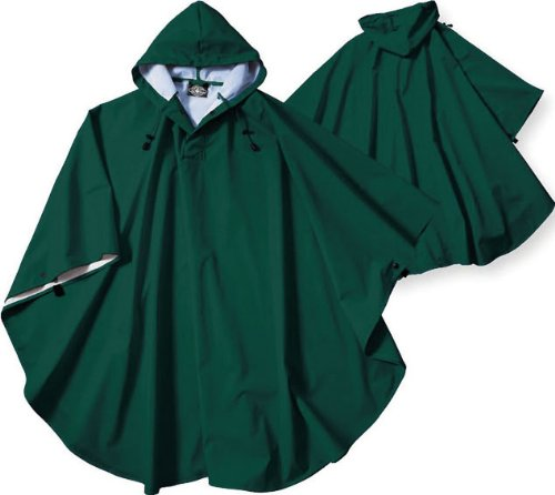 Charles River Apparel Kids' Big Youth Pacific Poncho, Forest, One Size