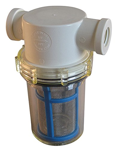 3/8'' Female NPT In-Line Strainer with 50 mesh stainless steel screen by VacMotion Inc.