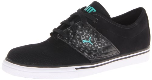 PUMA Men's EL Ace Opulence Classic Sneaker,Black/Electric Green,8.5 M US
