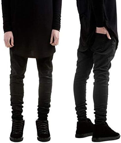 男性の新しいファッションカジュアルストレートソリッドジーンズスリムパンツロングパンツ