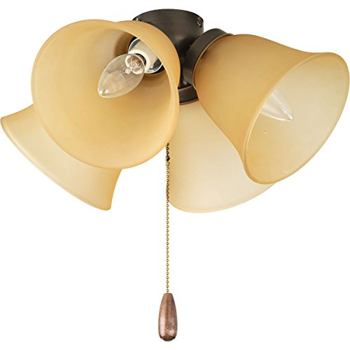 Airpro 4 Light - Progress Lighting P2643-20T AirPro 4-Light Ceiling Fan Light, Antique Bronze