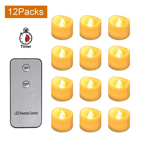 CoolEnding Flameless Candles Battery Operated LED Tealight Flickering Electric Candles,Perfect for Wedding and Home Decor