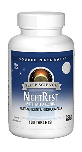 Source Naturals, Night Rest with Melatonin, 100 Tablets