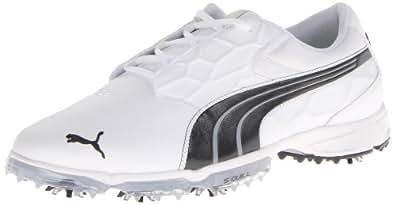 PUMA Men's Biofusion Lite Golf Shoe,White/ Black,11.5 M US
