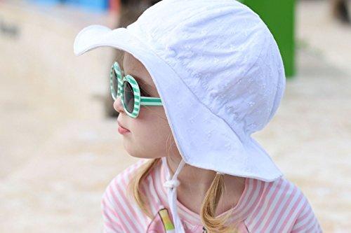 5047a1def8c71 Kids White Summer Sunhat 50 UPF