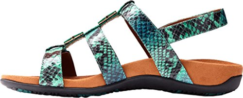 Amber Teal Rest Vionic Womens 44 Synthetic Snake Sandals qw14RAx1