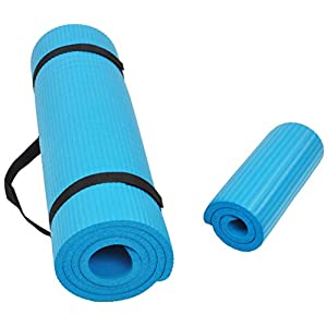 BalanceFrom GoYoga+ All-Purpose 1/2-Inch Extra Thick High Density Anti-Tear Exercise Yoga Mat and Knee Pad with Carrying…
