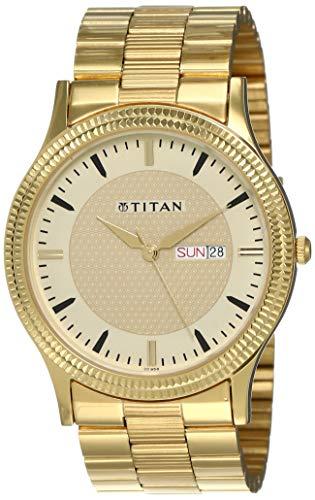 Titan Analog Gold Dial Men's Watch NM1650YM04/NN1650YM04