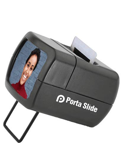 Porta Slide PS-E2 Illuminated Slide Viewer, Battery-Operated Hand Held Slide Viewer, Portable Slide Viewer, Picture Slide Viewer for 2X2 & 35mm Photos & Film, Photo Slide Viewer, Made in Europe
