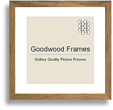 16x16 Inch Natural Solid Oak Picture Frame Clear Styrene Amazon