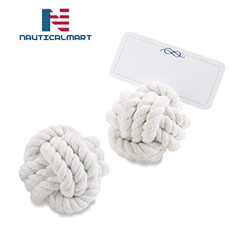 Card Holder Monkey (NAUTICALMART Nautical Cotton Rope Place Card Holder, Wedding Decorations, Party Favor, Photo Holder, Pack of 6)