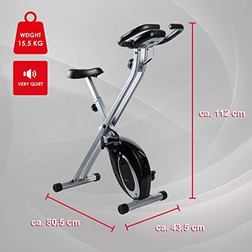 Ultrasport F-Bike Advanced, Cyclette Pieghevole con Display LCD 4